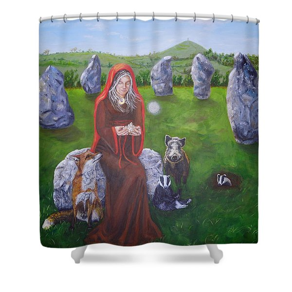 Mother Of Earth Goddess Brigantia Shower Curtain