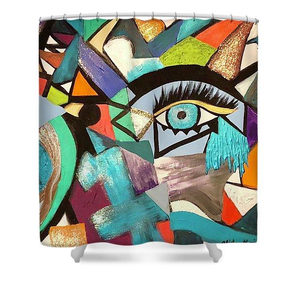 Motley Eye 4 Shower Curtain
