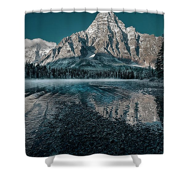 Mount Chephren Reflected Shower Curtain