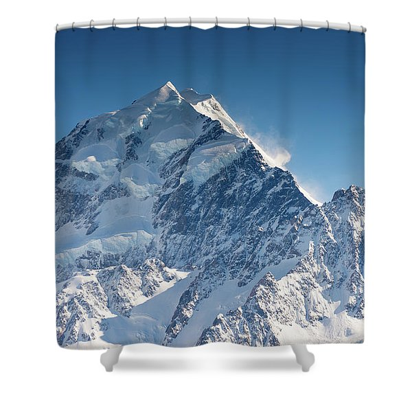 Mount Cook Aoraki Summit Ridge Shower Curtain