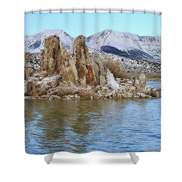Mount Dana At Dawn  Mono Lake Shower Curtain