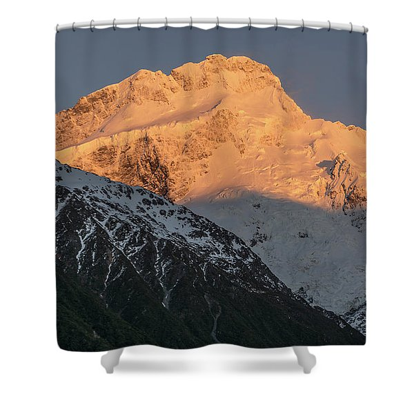 Mount Sefton Sunrise Shower Curtain