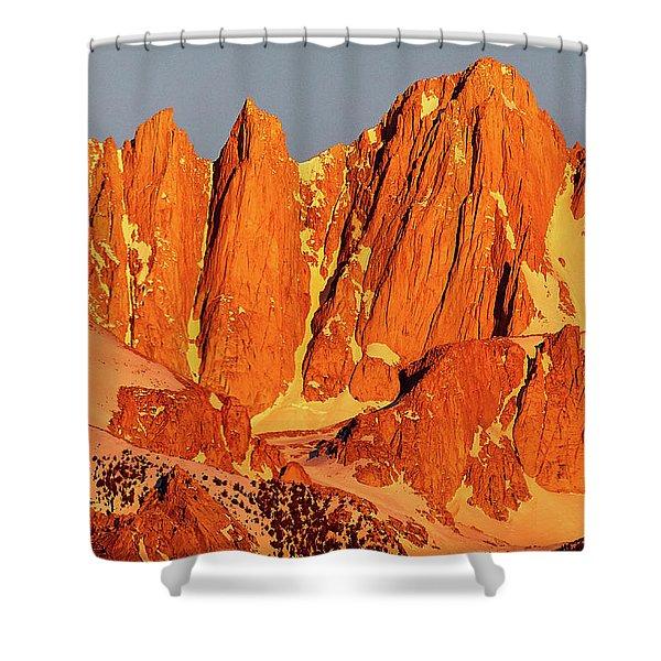 Mount Whitney Sunrise Shower Curtain