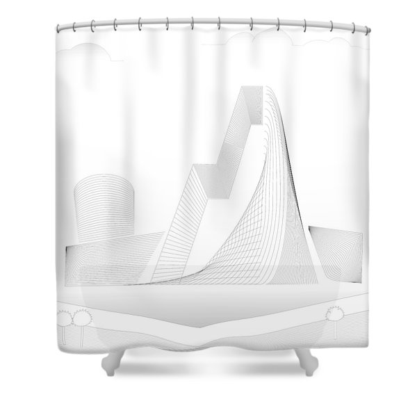 Mountain Gate Shower Curtain