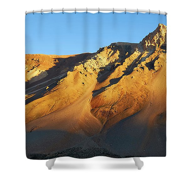 Shower Curtain featuring the photograph Mountain Gold by Whitney Goodey