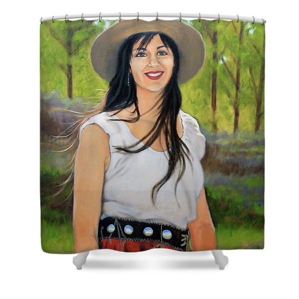Mountain Megan Shower Curtain