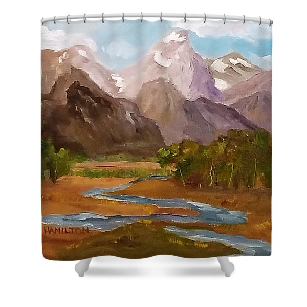 Spring In The Tetons Shower Curtain