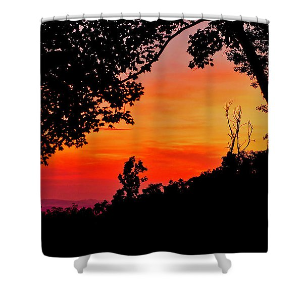 Mountain Sunrise Shower Curtain