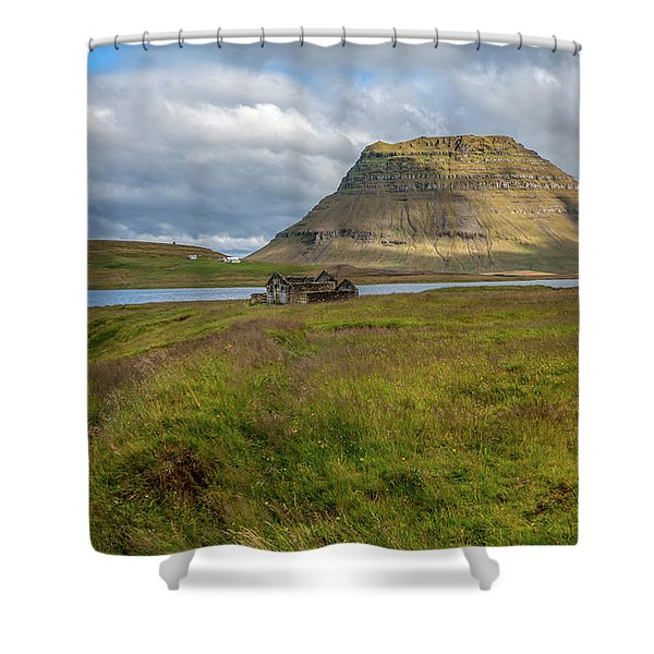 Mountain Top Of Iceland Shower Curtain