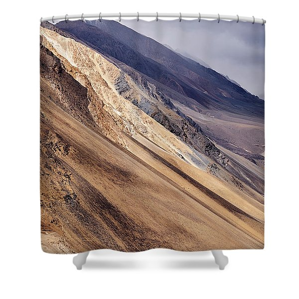 Shower Curtain featuring the photograph Mountainside by Whitney Goodey