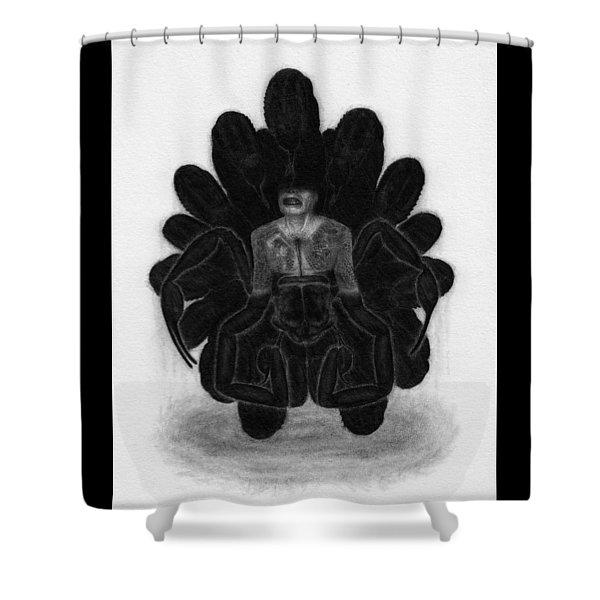 Mr Death - Artwork Shower Curtain