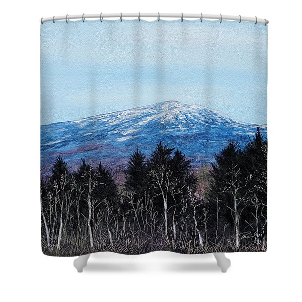 Mt. Monadnock Spring Snow Shower Curtain
