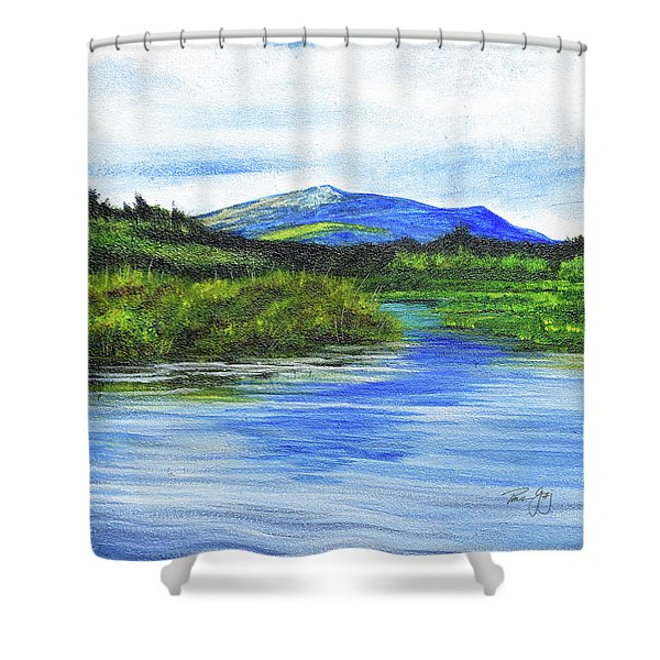 Mt. Monandnock From Scott Brook Shower Curtain