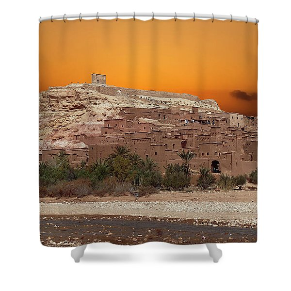 Mud Brick Buildings Of The Ait Ben Haddou Shower Curtain