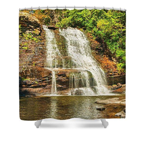 Muddy Creek Falls Shower Curtain