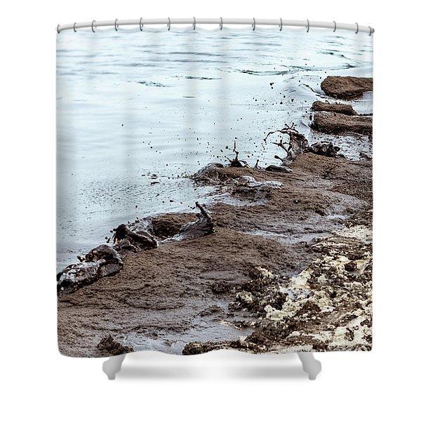 Muddy Sea Shore Shower Curtain