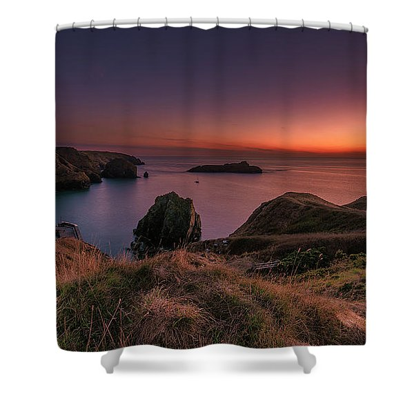 Mullion Cove - Sunset 2 Shower Curtain