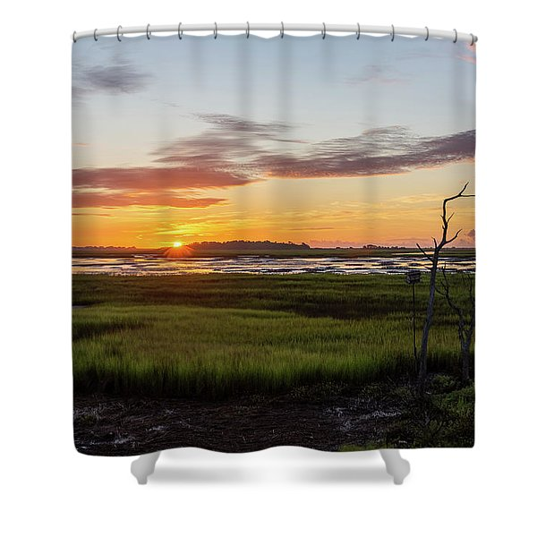 Murrells Inlet Sunrise - August 4 2019 Shower Curtain
