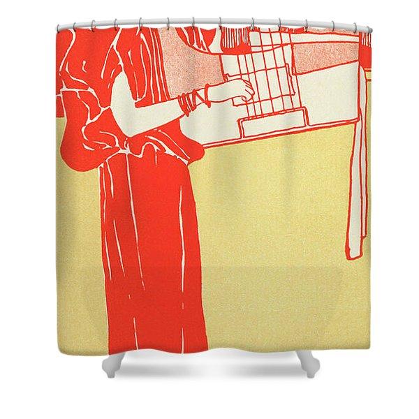 Music By Klimt Shower Curtain