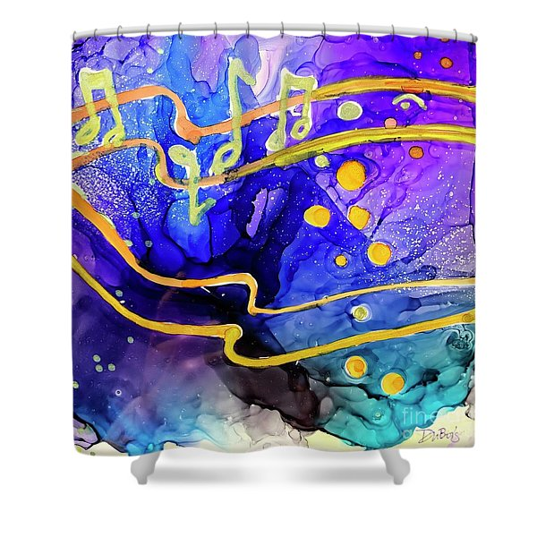 Music Playing Shower Curtain
