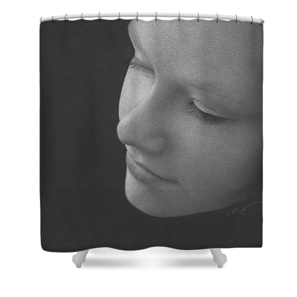 Muted Shadow No. 9 Shower Curtain