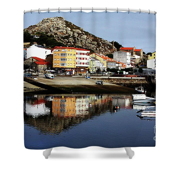 Muxia Camino Reflections Shower Curtain