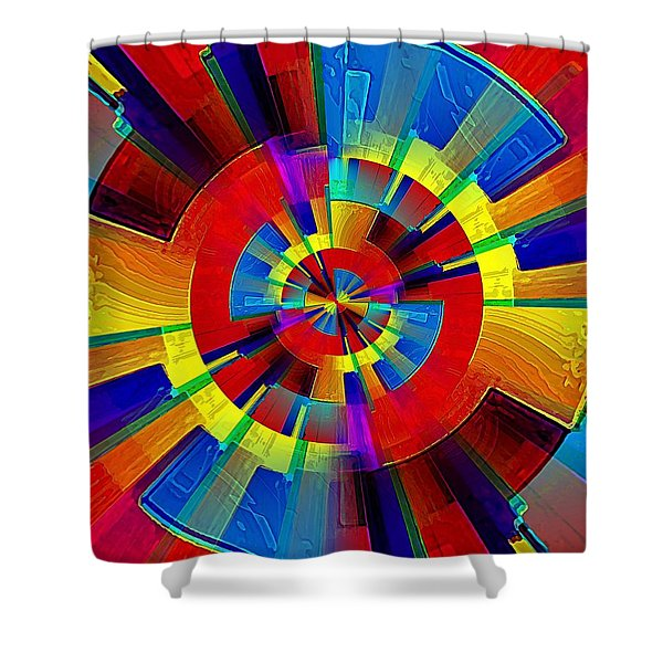 My Radar In Color Shower Curtain