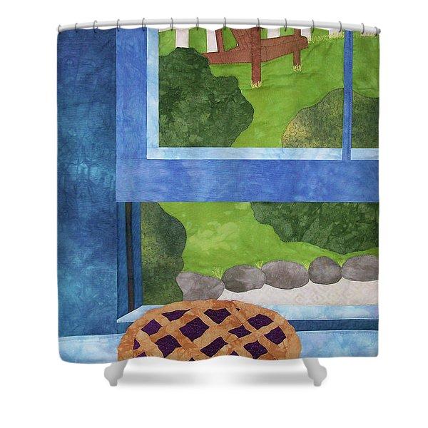 My Soul In A Blackberry Pie Shower Curtain