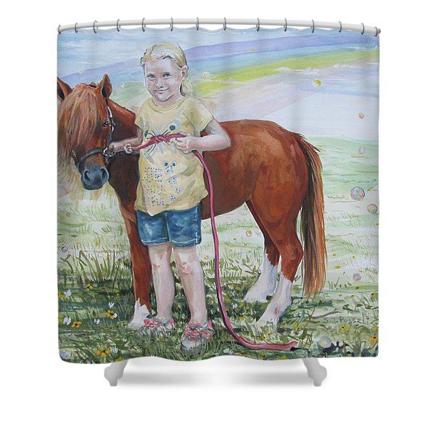 My Time With Ginger Shower Curtain