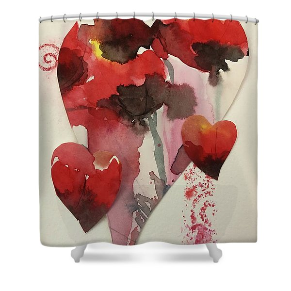 My Valentine Four Shower Curtain