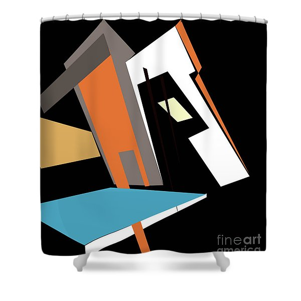 My World In Abstraction Shower Curtain