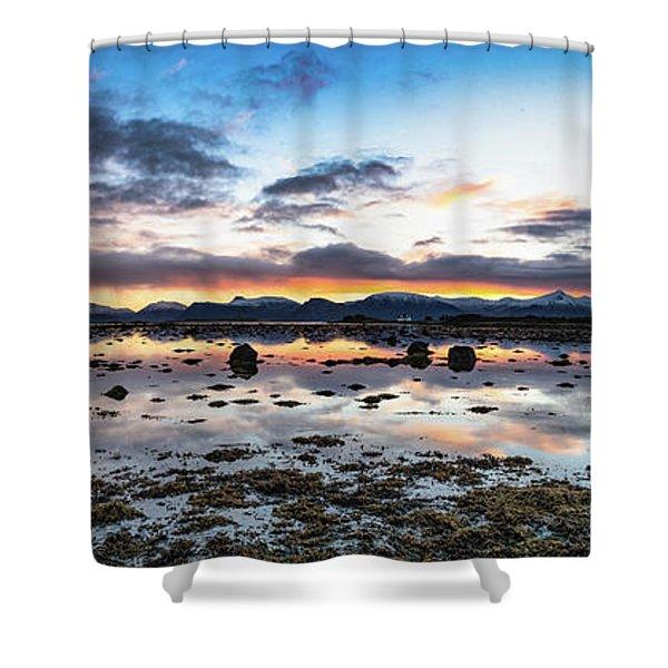 Myre Swapm Walkway On Vesteralen Norway Shower Curtain