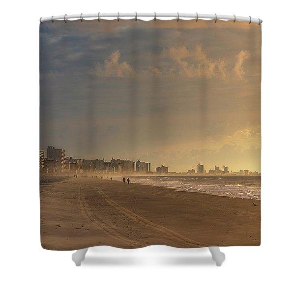 Myrtle Sunrise Shower Curtain