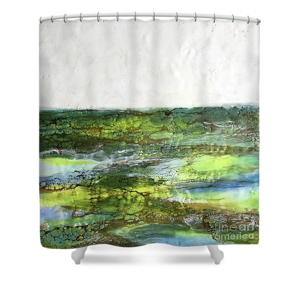 Mystical Greens Shower Curtain