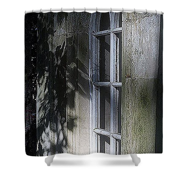 Mysterious Window Shower Curtain
