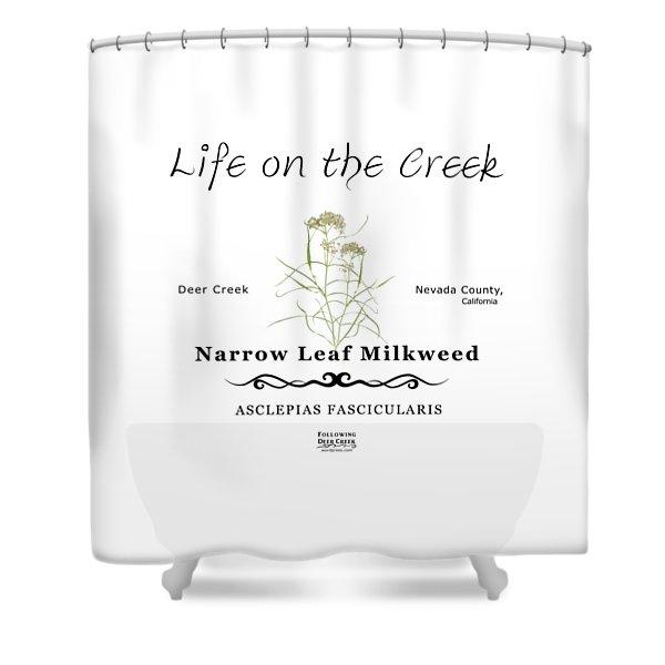 Narrow Leaf Milkweed Shower Curtain