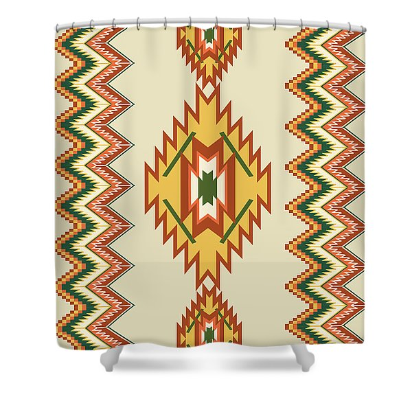 Native American Rug Shower Curtain