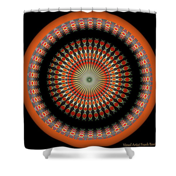 Shower Curtain featuring the digital art Native American Sun Two by Visual Artist Frank Bonilla