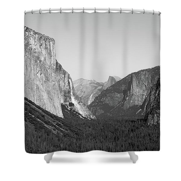 Nature At Its Best - Black-white Shower Curtain