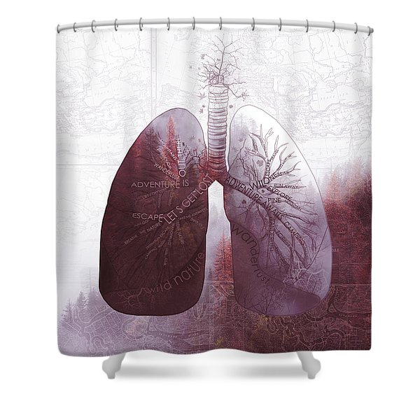 Nature Breath 2 Shower Curtain
