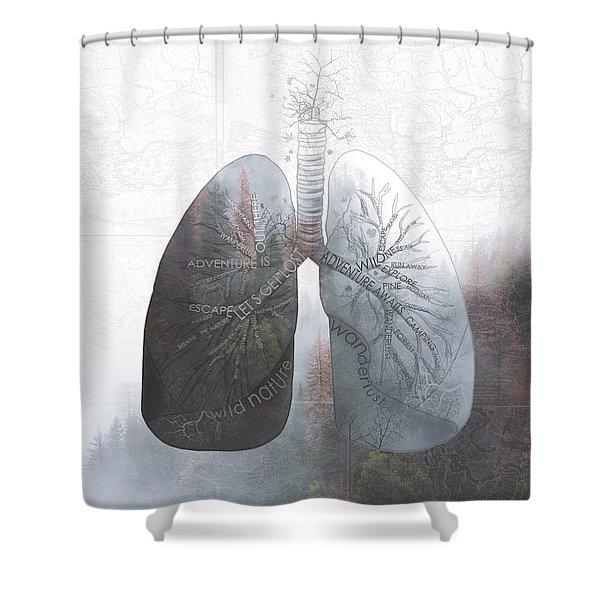Nature Breath Shower Curtain