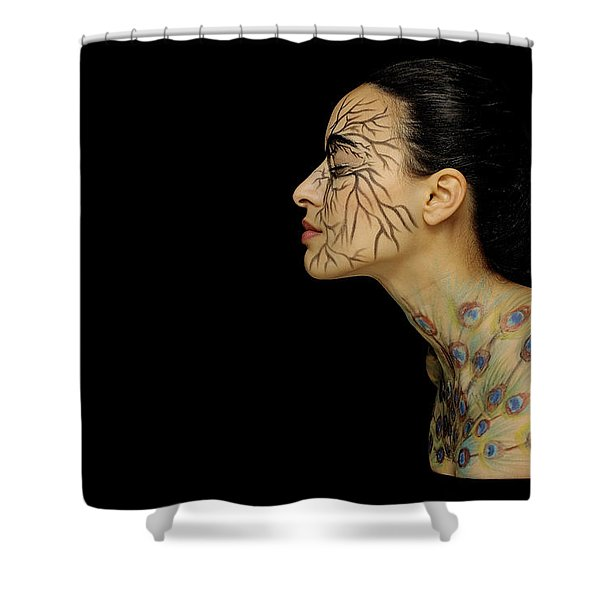 Nature Runs Through My Veins Shower Curtain