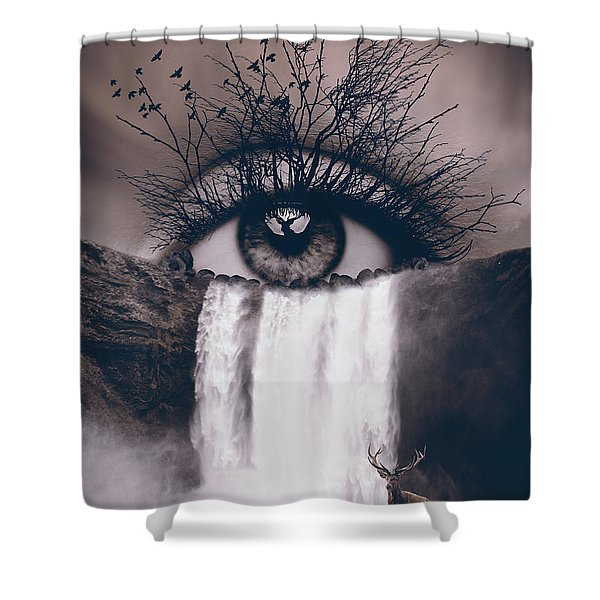 Nature's Eye Shower Curtain