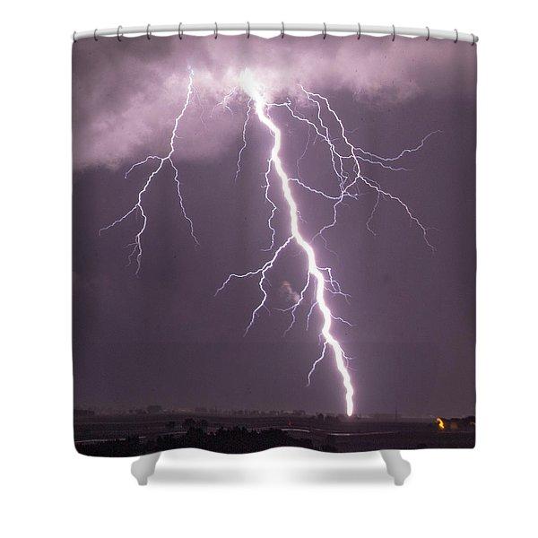 Nebraska Arcus And Lightning 046 Shower Curtain