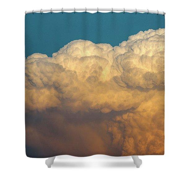 Nebraska Sunset Thunderheads 053 Shower Curtain