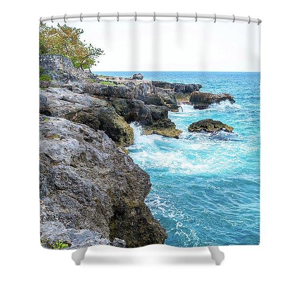 Negril Jamaica Cliffs Shower Curtain