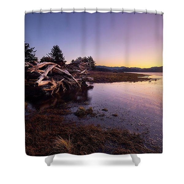 Shower Curtain featuring the photograph Nehalem Bay Sunrise by Whitney Goodey