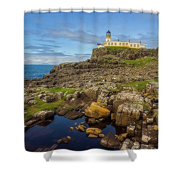 Neist Point Lighthouse No. 2 Shower Curtain