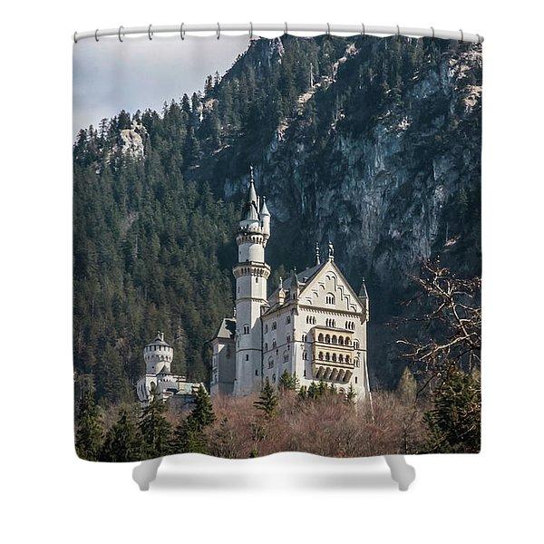 Neuschwanstein Castle On The Hill 2 Shower Curtain