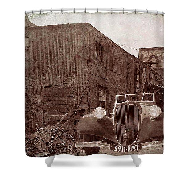 New 1936 Citroen Old Neighborhood Shower Curtain